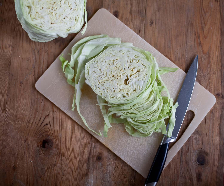 Saisonal Kochen Spitzkohl Winter Gemüse
